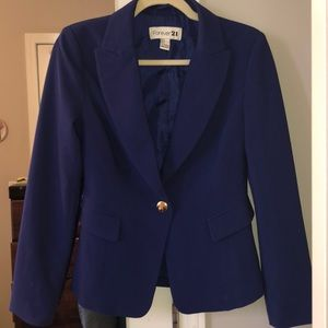 Forever 21 Royal Blue Blazer SZ : S
